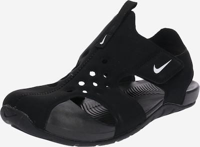 NIKE Strand-/badschoen 'Sunray Protect 2' in de kleur Zwart / Wit, Productweergave