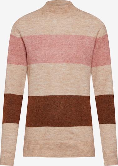 Soyaconcept Pullover 'NESSIE' in sand / braun / pink, Produktansicht