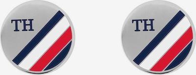 TOMMY HILFIGER Manschettenknöpfe in blau / grau / rot / weiß, Produktansicht