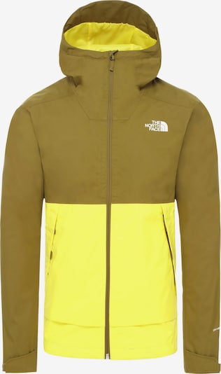 THE NORTH FACE Hardshelljacke 'Millerton' in neongelb / khaki, Produktansicht