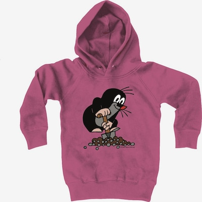 LOGOSHIRT Kapuzen-Sweatshirt Der kleine Maulwurf in pink, Produktansicht