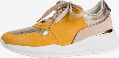 JANA Sneaker in gelb / rosé / silber, Produktansicht