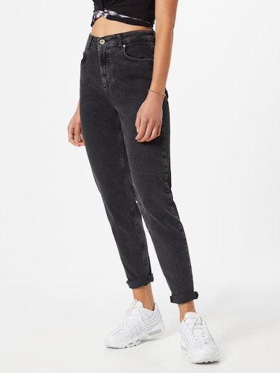 PIECES Mom Jeans 'Leah' in schwarz, Modelansicht
