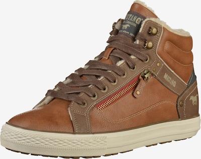 MUSTANG Sneakers hoog in de kleur Cognac, Productweergave