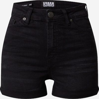 Urban Classics Jeans 'Ladies 5 Pocket Shorts' in de kleur Zwart, Productweergave