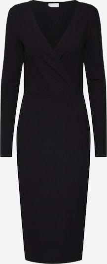 VILA Úpletové šaty 'Vichanne' - černá: Pohled zepředu