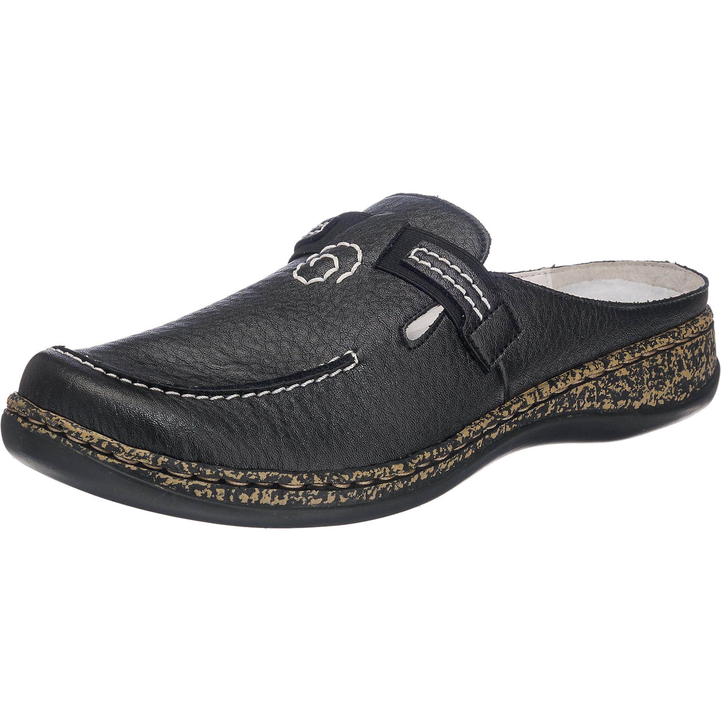 RIEKER Clog mit Klettverschluss Verschleißfeste billige Schuhe