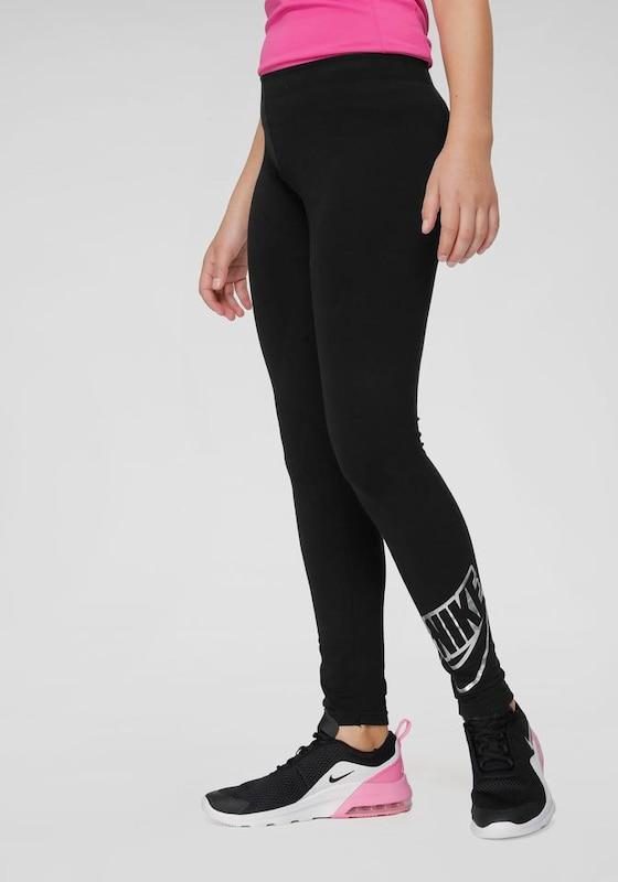 Nike Sportswear Leggings 'FAVORITES SHINE' fekete színben
