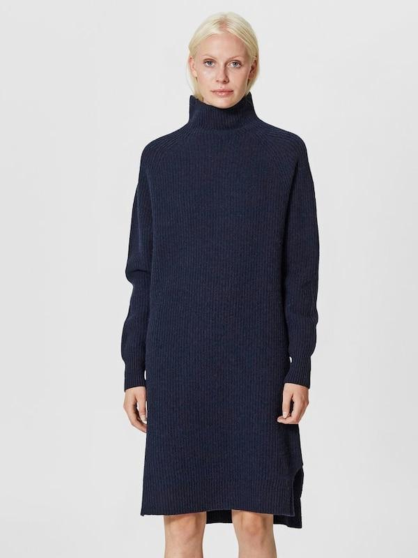 selected femme kleid mit langen rmeln woll in blau. Black Bedroom Furniture Sets. Home Design Ideas