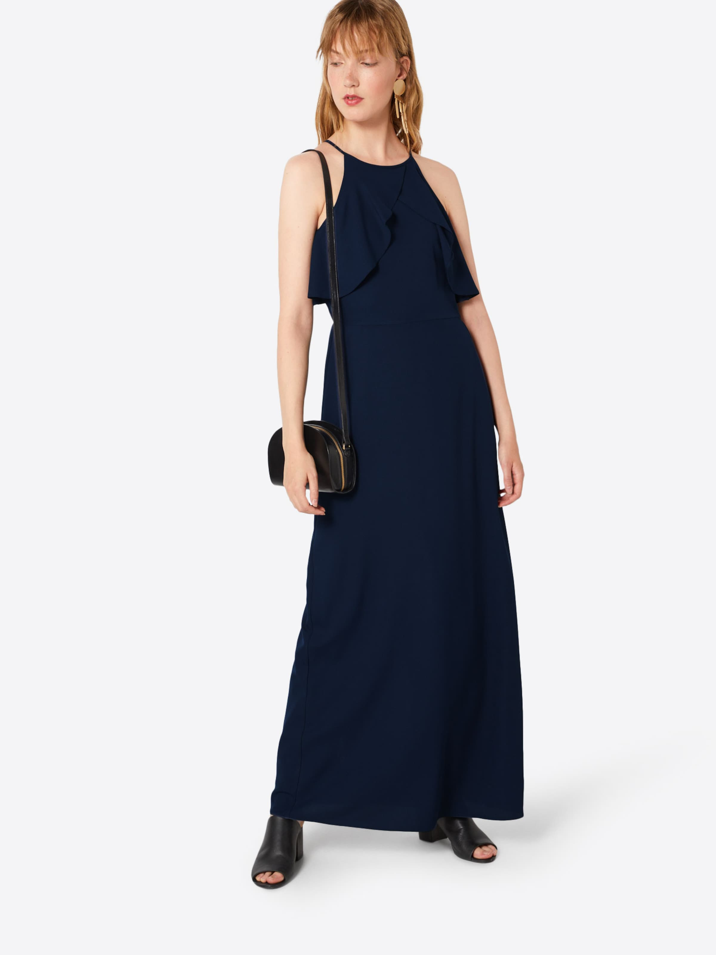 Dress' Navy Kleid Detail Maxi In Dorothy 'frill Perkins iTPkXOZu