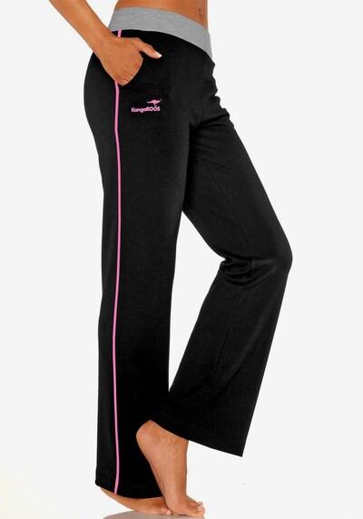 KangaROOS Relaxhose in pink / schwarz, Produktansicht