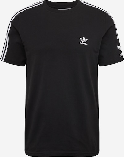 ADIDAS ORIGINALS T-Shirt 'Lock Up' en noir / blanc: Vue de face