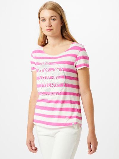 Key Largo T-Shirt 'San Diego' in pink / silber / weiß: Frontalansicht