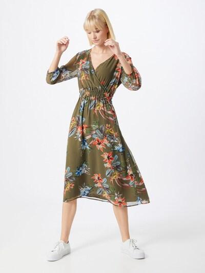 MORE & MORE Kleid in blau / khaki / rot, Modelansicht
