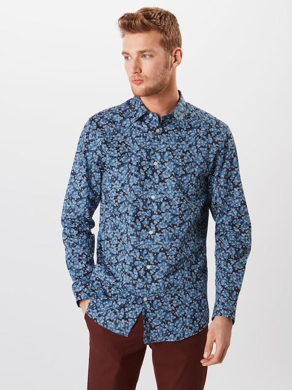 SELECTED HOMME Hemd 'SLIMPEN-Blau' in blau     dunkelblau   weiß  Großer Rabatt 4efeeb