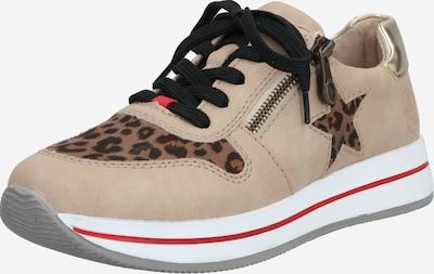 RIEKER Sneaker in hellbraun / dunkelbraun / schwarz, Produktansicht