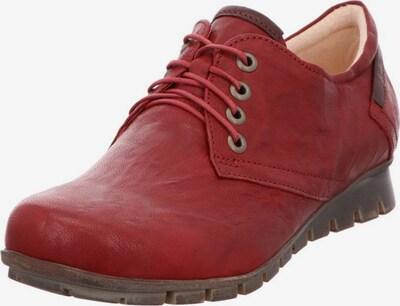 THINK! Sportlicher Schnürschuh in taupe / pastellrot, Produktansicht