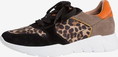 JANA Sneaker in braun / dunkelorange / schwarz, Produktansicht