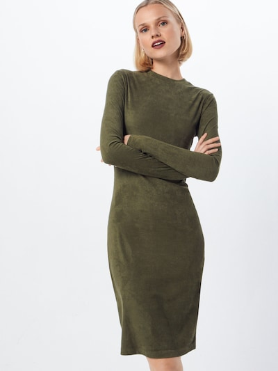 Urban Classics Kleid 'Peached Rib' in oliv, Modelansicht