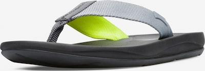CAMPER Teenslippers 'TWS' in de kleur Beige / Navy / Neongeel / Grijs, Productweergave