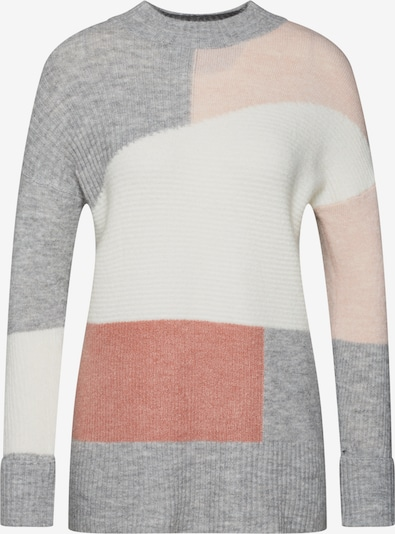 NEW LOOK Pullover '04.05 WW PATCHWORK JUMPER  P182' in grau / rosa / weiß, Produktansicht