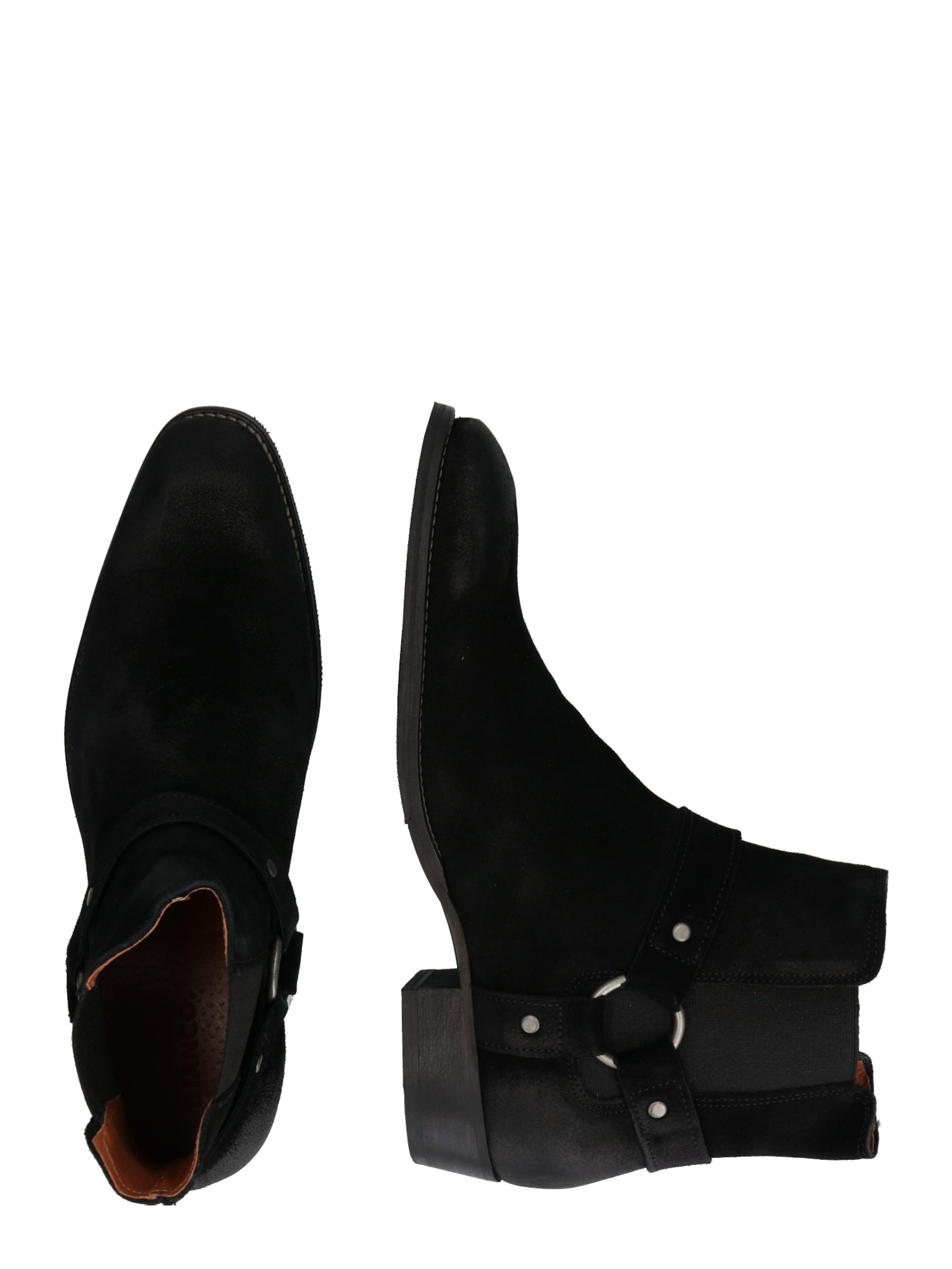 Bottes Noir De En 'beack' Bianco Cowboy WEDI9H2