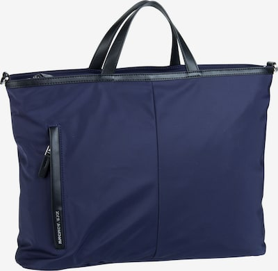 MANDARINA DUCK Shopper ' Hunter Tote ' in dunkelblau / schwarz: Frontalansicht