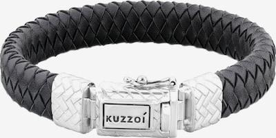 KUZZOI Armband 'Twisted' in schwarz / silber, Produktansicht