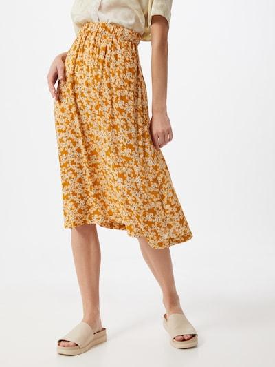 NÜMPH Spódnica w kolorze musztardowy / ciemnopomarańczowym: Widok z przodu