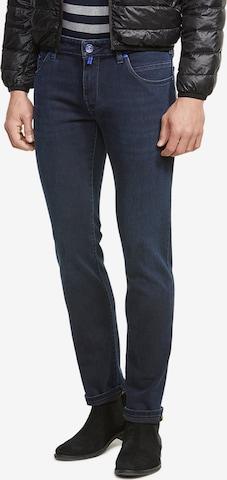 Meyer Hosen M 5 Five Pocket Modell Slim in Blau