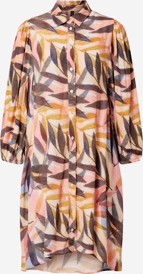 Y.A.S Kleid 'LEAFY' in beige / taubenblau / schlammfarben / rosé, Produktansicht