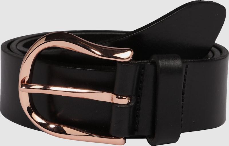 VANZETTI Ledergürtel mit rosegoldfarbener Schließe