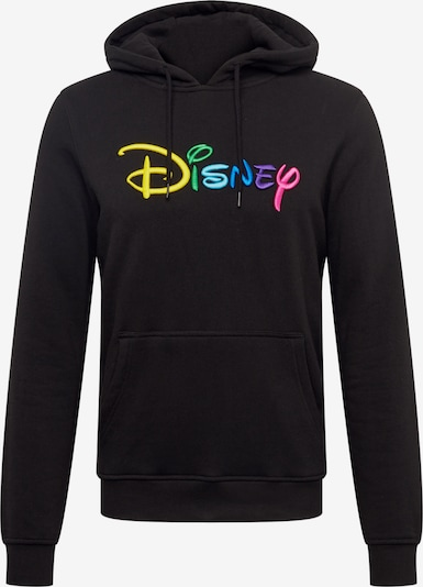 Mister Tee Sweat-shirt 'Disney Rainbow Logo EMB' en mélange de couleurs / noir, Vue avec produit