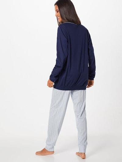 CALIDA Pyjama in de kleur Blauw: Achteraanzicht