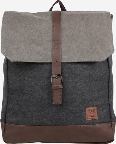 Iriedaily Backpack in Brown / Anthracite / Light grey, Item view