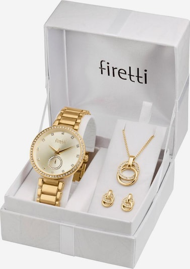 FIRETTI Quarzuhr (Set, 4 tlg.) in gold, Produktansicht