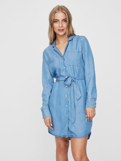 VERO MODA Kleid in blue denim, Modelansicht