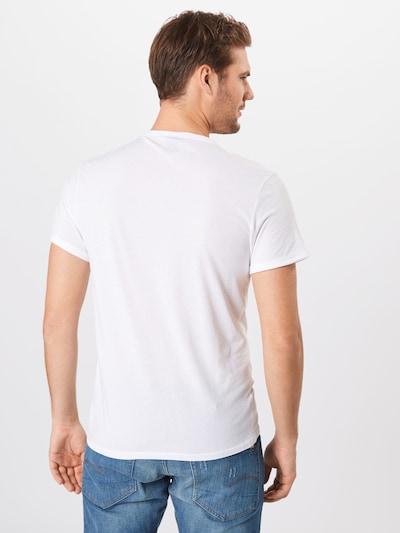 G-Star RAW Shirt 'Base-s' in schwarz / weiß: Rückansicht