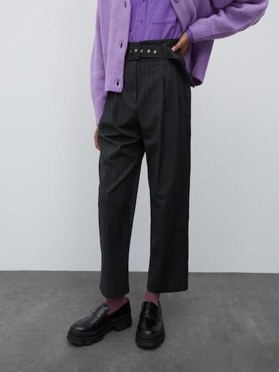 EDITED Kalhoty se sklady v pase 'Kate' - tmavě šedá, Model/ka