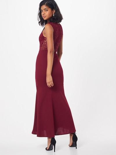 Vakarinė suknelė iš WAL G. , spalva - vyno raudona spalva: Vaizdas iš galinės pusės