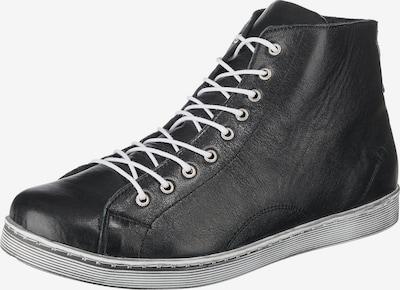 ANDREA CONTI Schnürstiefeletten in schwarz: Frontalansicht