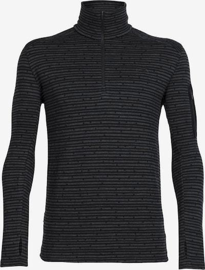Icebreaker Shirt 'Apex' in basaltgrau / schwarz, Produktansicht