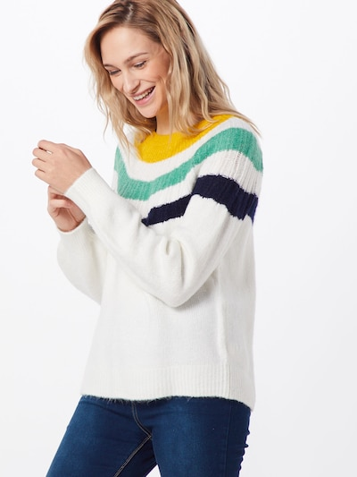 GAP Pullover 'V-GRAD YOKE PO' in naturweiß, Modelansicht