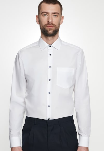 SEIDENSTICKER Koszula biznesowa 'Business Kent' w kolorze czarny / białym: Widok z przodu