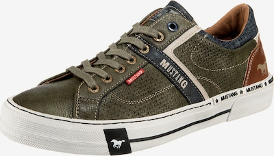 MUSTANG Sneaker Low in braun / dunkelgrün, Produktansicht