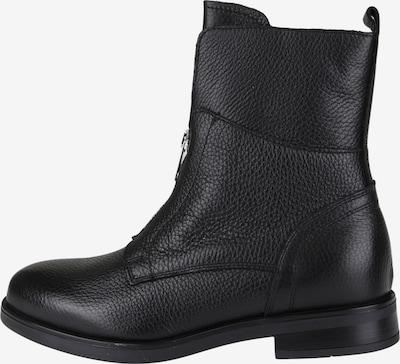 COX Trend-Stiefelette mit dekorativem Reißverschluss in schwarz, Produktansicht