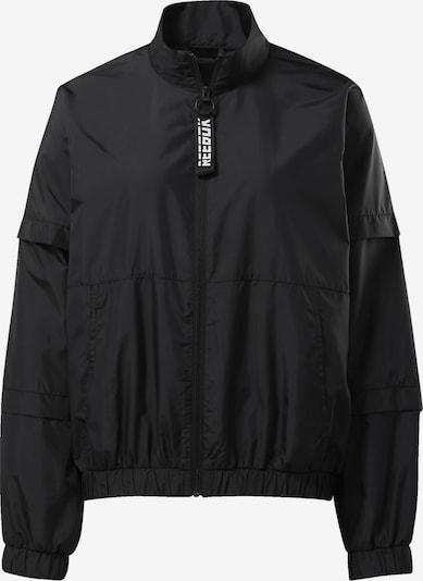 REEBOK Trainingsjacke in schwarz / weiß, Produktansicht
