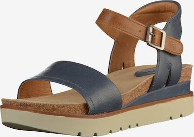 JOSEF SEIBEL Sandalen in dunkelblau / braun, Produktansicht