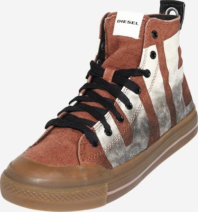 DIESEL Sneaker 'Astico' in braun / grau / schwarz / weiß, Produktansicht