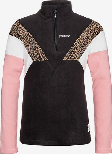 PROTEST Sweatshirt  'Evy' in braun / rosa / schwarz / weiß, Produktansicht